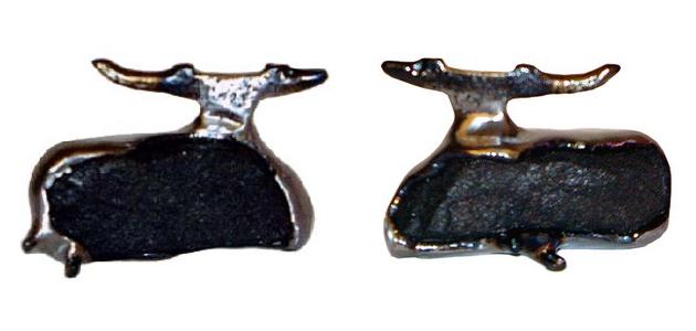 Auðhumla, 2003, 11x18, Stál og grjót.